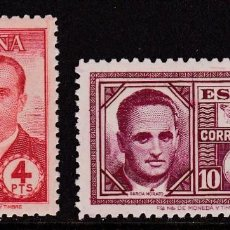 Sellos: 1945. HAYA Y GARCÍA MORATO SERIE COMPLETA NUEVA SIN FIJASELLOS EDIFIL Nº 991/992. Lote 194239771