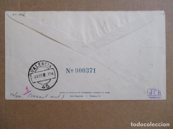 Sellos: CIRCULADA 1948 DE FERIA LIBRO SEVILLA A VALENCIA - Foto 2 - 194506480