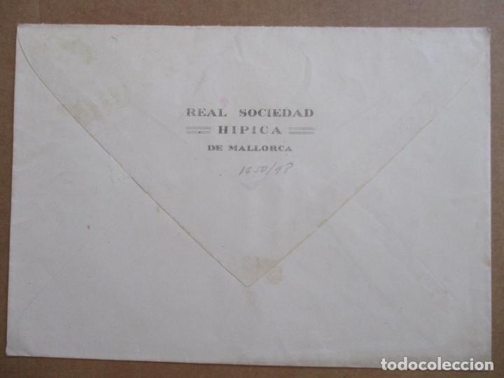 Sellos: CIRCULADA 1948 DE REAL SOCIEDAD HIPICA MALLORCA DE ALCUDIA BALEARES A MADRID - Foto 2 - 194507817