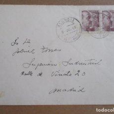Sellos: CIRCULADA 1948 DE REAL SOCIEDAD HIPICA MALLORCA DE ALCUDIA BALEARES A MADRID. Lote 194507817