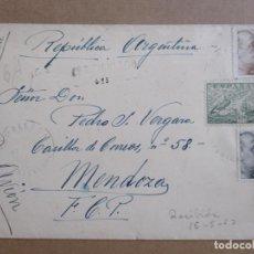 Sellos: CIRCULADA 1952 DE RAMALLOSA PONTEVEDRA A MENDOZA ARGENTINA EDIFIL 935. Lote 194508621