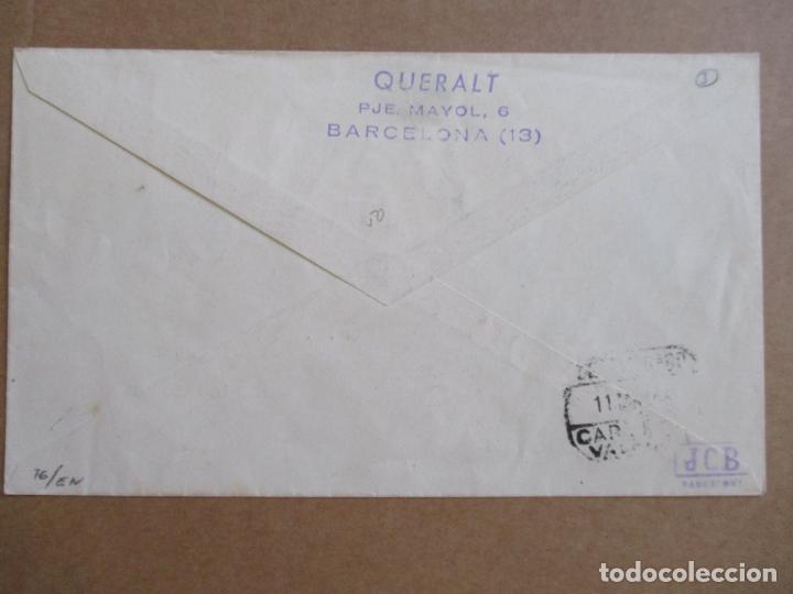 Sellos: CIRCULADA 1948 DE EXPOFILATELICA DE SABADELL BARCELONA A VALENCIA - Foto 2 - 194509773