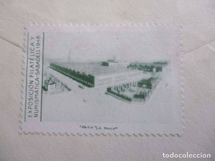 Sellos: CIRCULADA 1948 DE EXPOFILATELICA DE SABADELL A BARCELONA - Foto 2 - 194509941