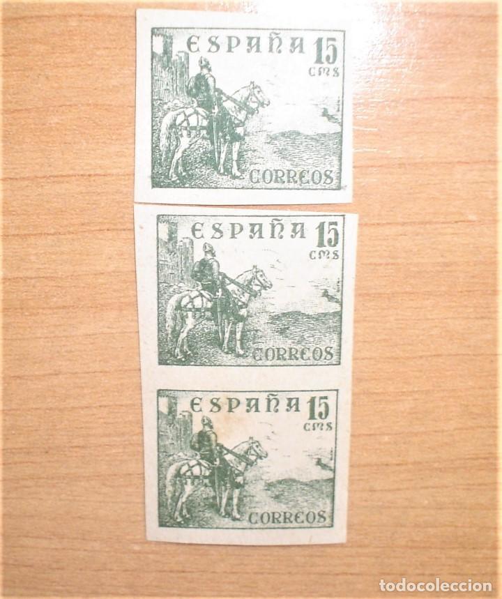 EDIFIL 918 NUEVOS SIN DENTAR 3 SELLOS,CON GOMA ORIGINAL. (Sellos - España - Estado Español - De 1.936 a 1.949 - Nuevos)