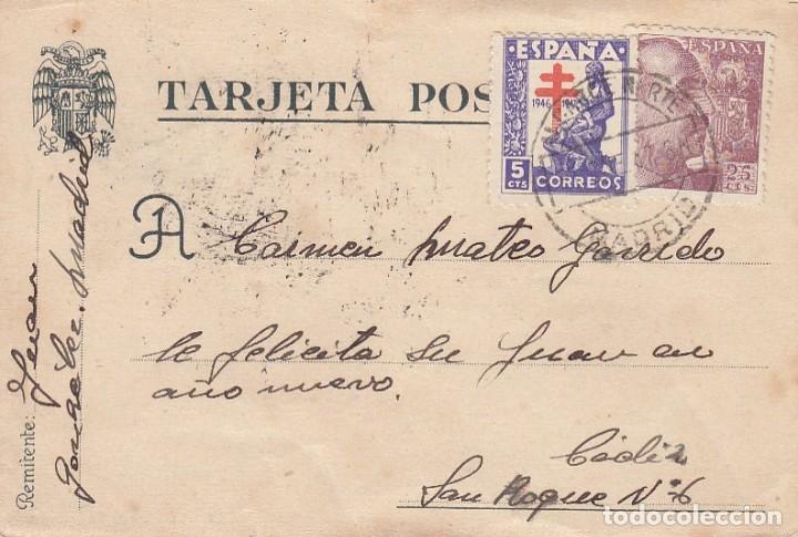 TARJETA POSTAL CIRCULADA (Sellos - España - Estado Español - De 1.936 a 1.949 - Cartas)