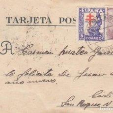 Sellos: TARJETA POSTAL CIRCULADA . Lote 194624322