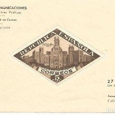 Sellos: ESPAÑA.PALACIO DE COMUNICACIONES DE MADRID.GUERRA CIVIL.BENEFICENCIA.EDIFIL Nº 17.NUEVA SIN FIJASELL. Lote 194684783