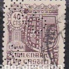Sellos: ESPAÑA.- SELLO Nº 981 MILENARIO DE CASTILLA PERFORADO C.T.N.E. MATASELLADO. . Lote 194766180