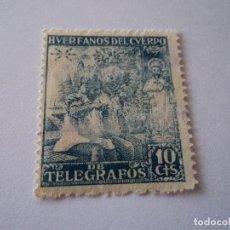 Sellos: HUERFANOS DEL CUERPO DE TELEGRAFOS 10 CTS USADO. Lote 195207516