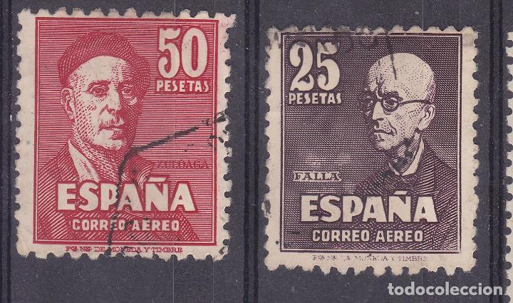 AA18- FALLA Y ZULOAGA EDIFIL 1015/16 . USADOS (Sellos - España - Estado Español - De 1.936 a 1.949 - Usados)