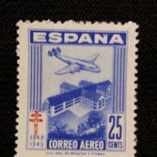 Sellos: SELLO ESPAÑA, 25 CTS, AEREO, CRUZ DE LORENA, AÑO 1946. SIN USAR. Lote 195328940