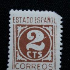 Sellos: SELLO ESPAÑA, 2 CTS, CIFRAS, AÑO 1937. SIN USAR. Lote 195329347