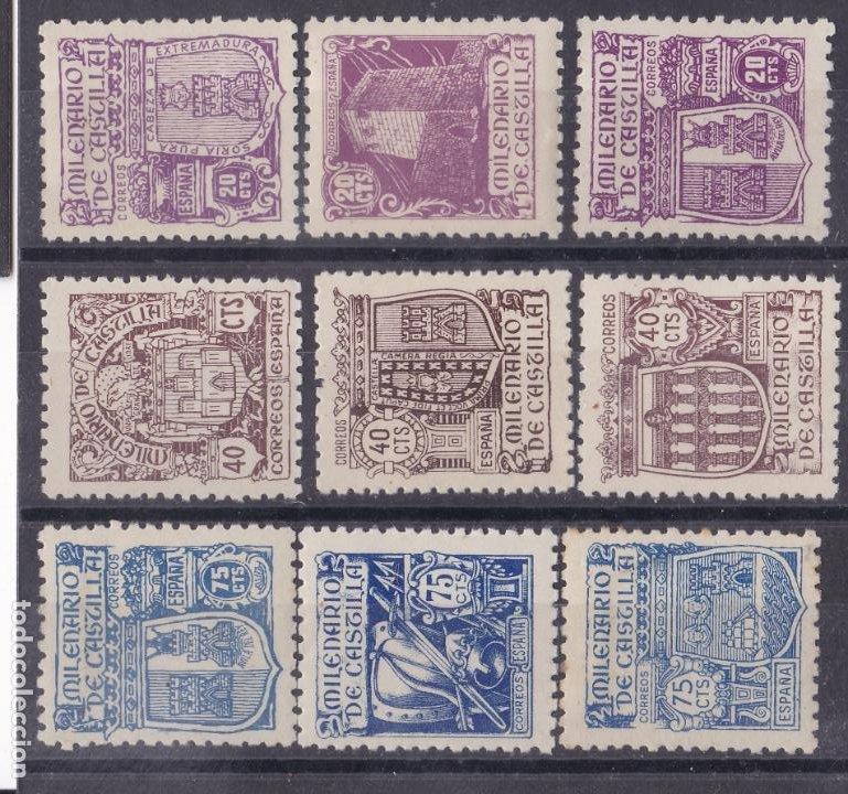 LL6- MILENARIO CASTILLA EDIFIL 974 /82 . NUEVOS **/*. CENTRADOS. (Sellos - España - Estado Español - De 1.936 a 1.949 - Nuevos)