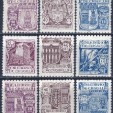 Sellos: EDIFIL 974-982 MILENARIO DE CASTILLA 1944 (SERIE COMPLETA). VALOR CATÁLOGO: 50 €. LUJO. MNH **. Lote 195378388