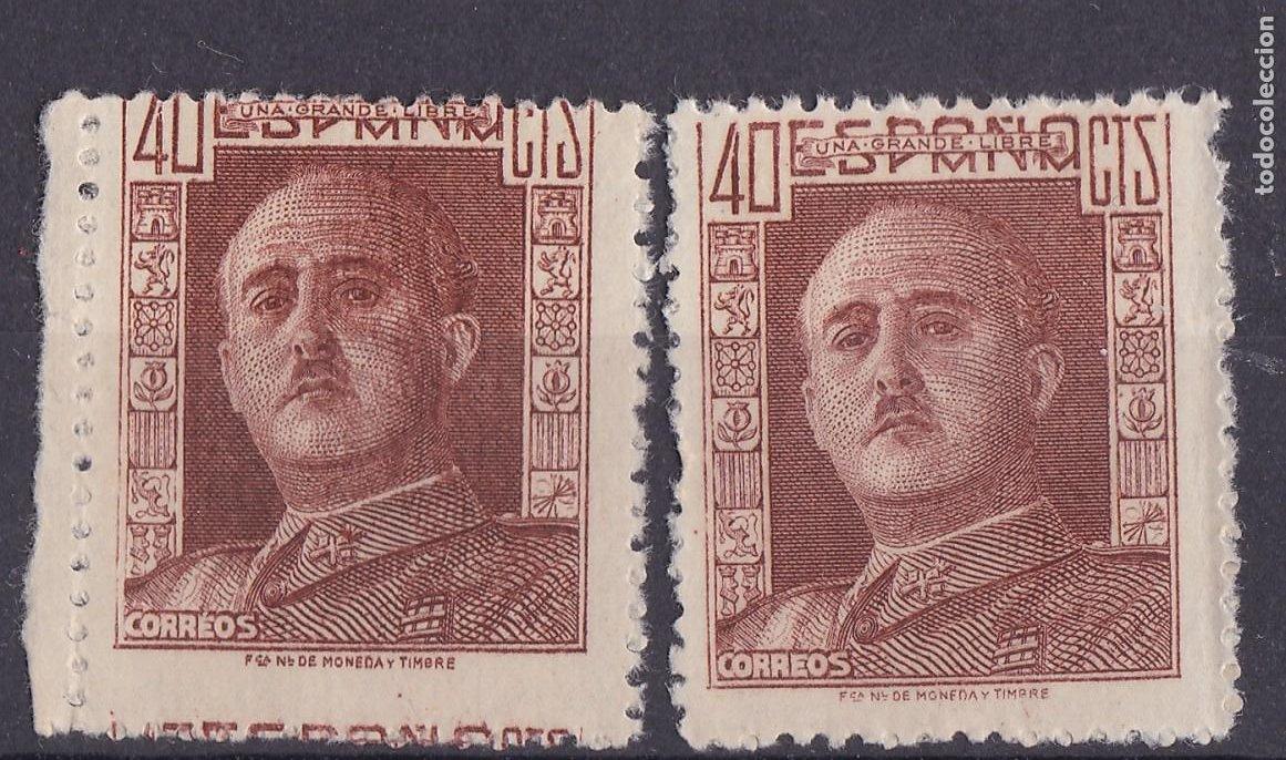 LL13- FRANCO EDIFIL 953 VARIEDAD DENTADO / IMPRESIÓN ** SIN FIJASELLOS (Sellos - España - Estado Español - De 1.936 a 1.949 - Nuevos)