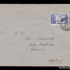Sellos: *** DOCTOR THEBUSSEM 1944. CARTA CON MATASELLOS PRIMER DÍA DE SEVILLA NEGRO. EDIFIL 983 ***. Lote 195394330