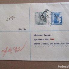 Sellos: CIRCULADA 1944 DE SANTA CRUZ DE TENERIFE A FERNANDO POO CON EDIFIL 963. Lote 195490152