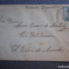 Sellos: SOBRE FECHADOR AMBULANTE REUS A EL VILLAR DE ARNEDO LA RIOJA. Lote 195529990