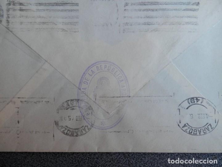 Sellos: SOBRE CIRCULADO CON FRANQUICIA DE LA EMBAJADA ARGENTINA A ZARAGOZA AÑO 1945 - Foto 2 - 195532893