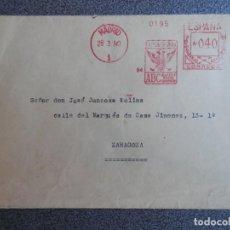 Sellos: SOBRE CIRCULADO CON MATASELLO RODILLO PUBLICITARIO PERIÓDICO ABC AÑO 1940. Lote 195533050