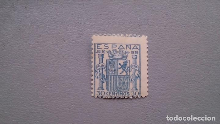 ESPAÑA - 1936 - ESTADO ESPAÑOL - EDIFIL 801 F - MNH** - NUEVO - SELLO CLAVE. (Sellos - España - Estado Español - De 1.936 a 1.949 - Nuevos)