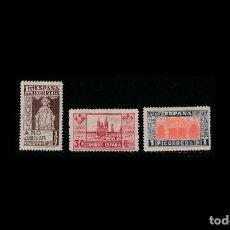 Sellos: ESPAÑA - 1937 - ESTADO ESPAÑOL - EDIFIL 833/835 - SERIE COMPLETA - MH* - NUEVOS - CENTRADOS.. Lote 195770178