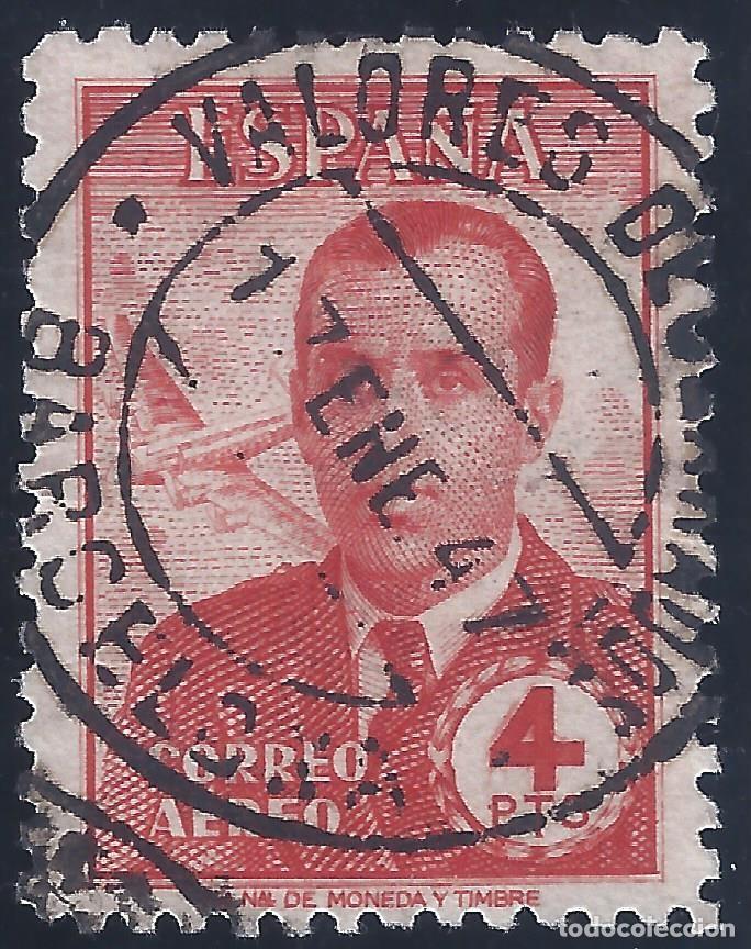 EDIFIL 991 CARLOS HAYA 1945. MATASELLOS VALORES DECLARADOS 17-ENERO.1947. VALOR CATÁLOGO: 12 €. (Sellos - España - Estado Español - De 1.936 a 1.949 - Usados)