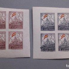 Sellos: ESPAÑA - 1941 - BARCELONA - EDIFIL 29/30S - SIN DENTAR - MNH** - NUEVOS - VALOR CATALOGO 200€.. Lote 196282381