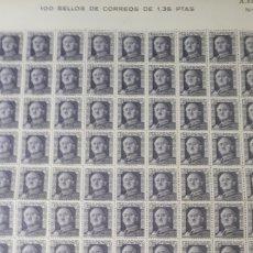 Sellos: 100 SELLOS DE ESPAÑA NUEVOS AÑO1946 EDIF 1001 VALOR 215 EUROS ALGUNA MARCA DE OXIDO EN LA GOMA TRASE. Lote 198240765