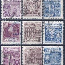 Sellos: EDIFIL 974-982 MILENARIO DE CASTILLA 1944 (SERIE COMPLETA). VALOR CATÁLOGO: 23 €. LUJO.. Lote 198254627