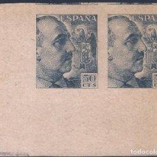 Sellos: EDIFIL 927 GENERAL FRANCO 1940-1945 (VARIEDAD..PRUEBA DE IMPRESIÓN ANVERSO Y REVERSO). LUJO. MNH **. Lote 198413871