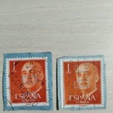 Sellos: SELLO FRANCO 1 PESETA EDIFIL 1153 PERFORADO BC. Lote 198570420
