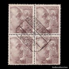 Sellos: 1949-53.CID Y GENERAL FRANCO. 10P CASTAÑO.BLQ 4. EDIFIL 1059. Lote 199244885
