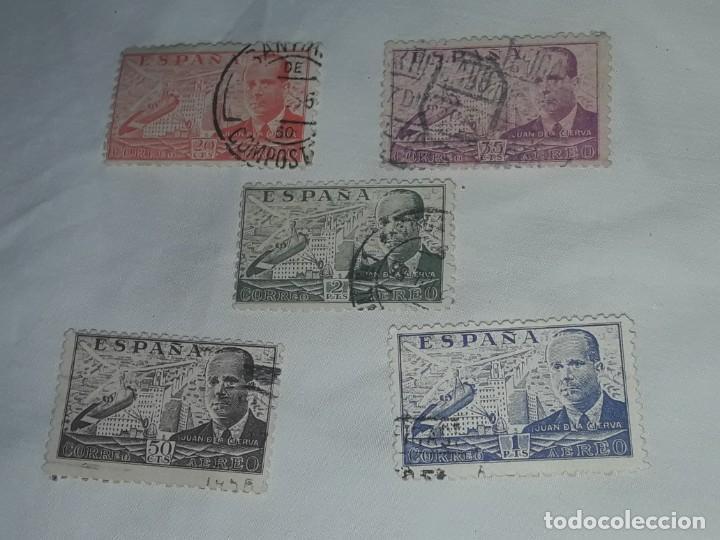 Sellos: Lote de 5 sellos correo aéreo Juan de la Cierva - Foto 2 - 199337308