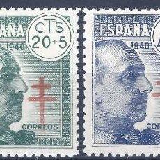 Sellos: EDIFIL 936-939 PRO TUBERCULOSOS 1940 (SERIE COMPLETA). CENTRADO DE LUJO. MLH.. Lote 199634377