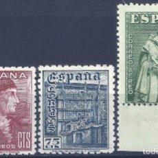 Sellos: EDIFIL 1002-1004 DÍA DEL SELLO. FIESTA DE LA HISPANIDAD (SERIE COMPLETA). EXCELENTE CENTRADO. MNH **. Lote 199637290