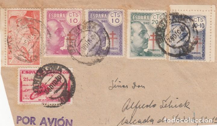 FRAGMENTO DE CARTA CON LOS SELLOS NUMS 936 A 939 , 903 Y 940 (Sellos - España - Estado Español - De 1.936 a 1.949 - Cartas)