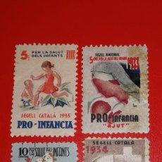 Sellos: SELLOS LOTE PRO-INFANCIA, AÑO 1933, 34, 35 Y 37. Lote 200040701