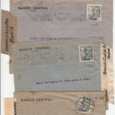 Sellos: ESPAÑA MADRID FRANCO DIFERENCIAS TONALIDAD SELLOS TRES CIERRES CENSURA DIFERENTES BANCO CENTRAL . Lote 200138596