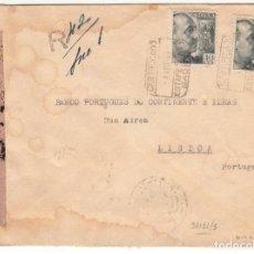 Sellos: ESPAÑA MADRID FRANCO 1941 CERTIFICADO CIERRE CENSURA MILITAR. Lote 200138761