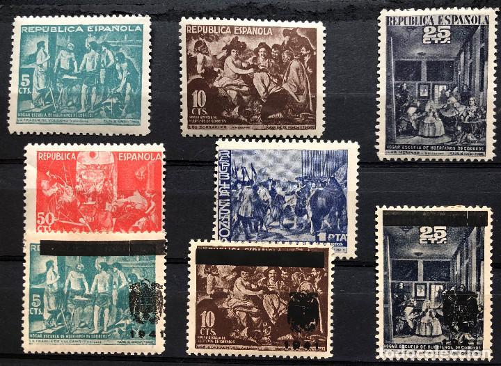 SELLO ESPAÑA, AÑO 1938 BENEFICENCIA 29/33** Y NE 35/36/37 (Sellos - España - Estado Español - De 1.936 a 1.949 - Nuevos)