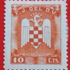 Sellos: SELLO F.J.DEL D.U., 10 CTS. Lote 201534455