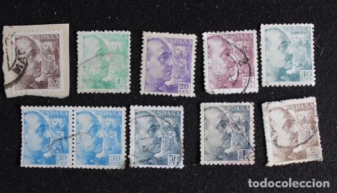 LOTE 38 SELLOS FRANCO 1940-45 (Sellos - España - Estado Español - De 1.936 a 1.949 - Usados)