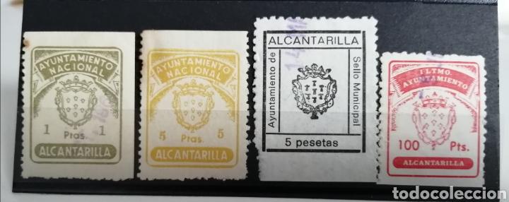 ALCANTARILLA. MURCIA. 4 SELLOS MUNICIPALES. DISTINTOS VALORES (Sellos - España - Estado Español - De 1.936 a 1.949 - Usados)