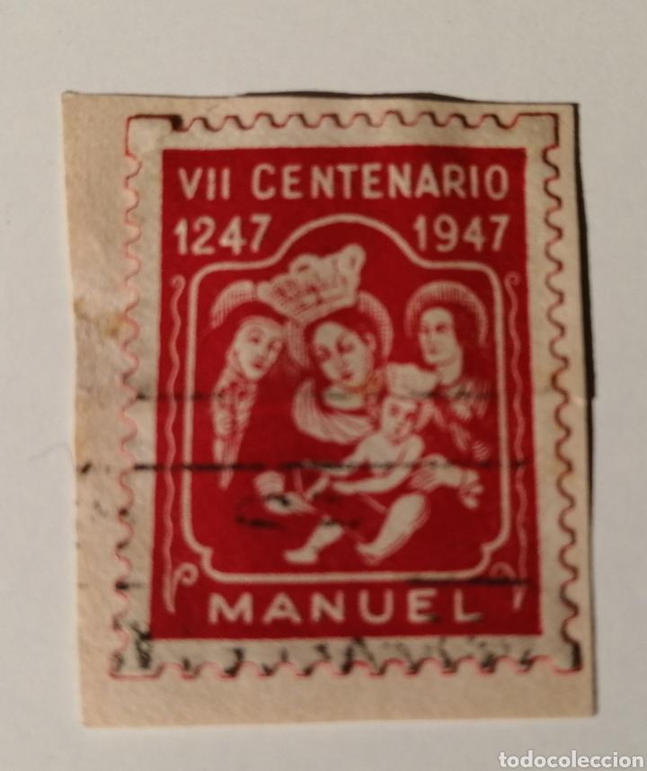 MANUEL. VALENCIA. VIÑETA VII CENTENARIO. 1947 (Sellos - España - Estado Español - De 1.936 a 1.949 - Usados)