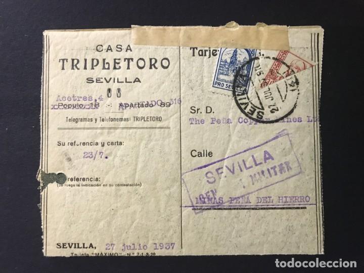 ESPAÑA. SOBRE CENSURA MILITAR (Sellos - España - Estado Español - De 1.936 a 1.949 - Cartas)