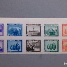 Sellos: ESPAÑA-1938 - ESTADO ESPAÑOL - EDIFIL SH 850 - MH* - NUEVA - LUJO - MEDIA HOJA -VALOR CATALOGO 125€.. Lote 203896275