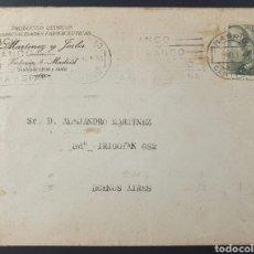 Sellos: 1940 ED 925 US. 40 CTS DE FRANCO SOBRE CARTA DE MADRID A BUENOS AIRES (ARGENTINA) CENSURA GUBERNATIV. Lote 204107780