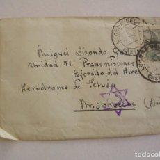 Sellos: CARTA CON CENSURA C DENTRO DE ESTRELLA, LUCENA DEL CID CASTELLON, MARRUECOS, 1945. Lote 204322345