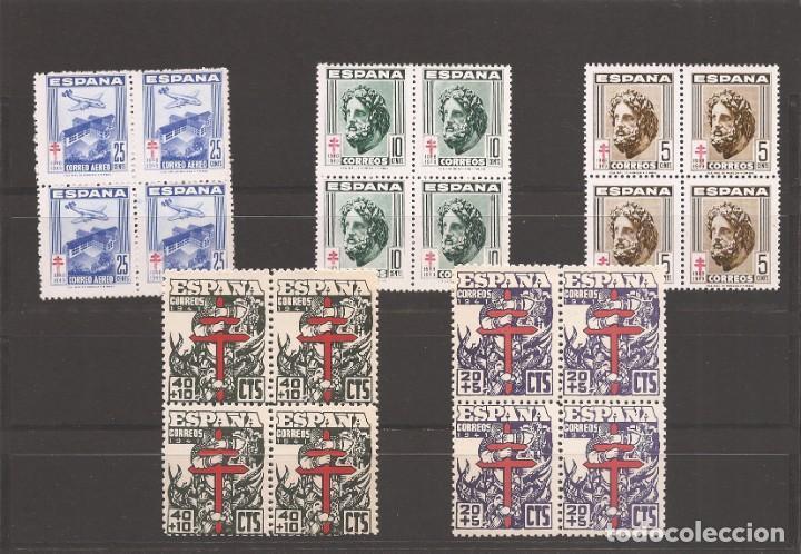 SELLOS DE ESPAÑA AÑO 1941 Y 1948 TUBERCULOSOS SELLOS NUEVOS* BLOQUE DE 4 (Sellos - España - Estado Español - De 1.936 a 1.949 - Nuevos)
